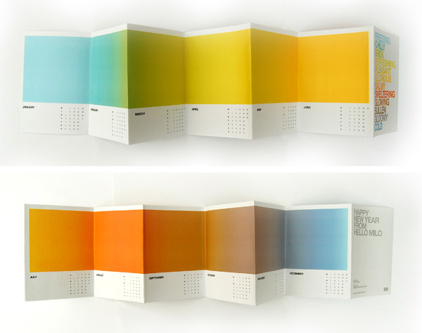 Creative Calendar from Jonathan Davies Designed with Gradients from Adorn Design Co.'s Blog